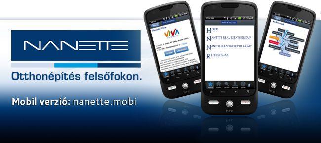 Nanette - központi mobil weboldal