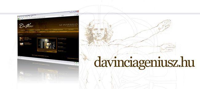 Da Vinci a Géniusz kiállítás honlapja