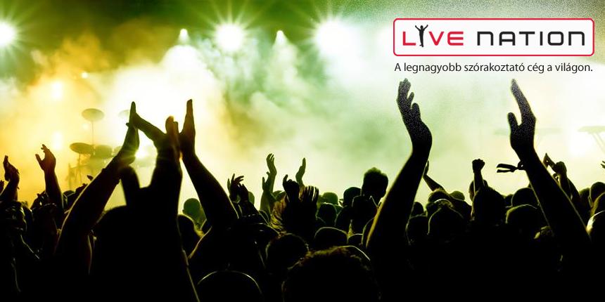Live Nation - központi mobil weboldal